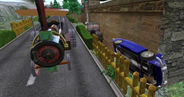 Cars stuck