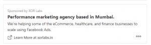 Quora Advertising Examples