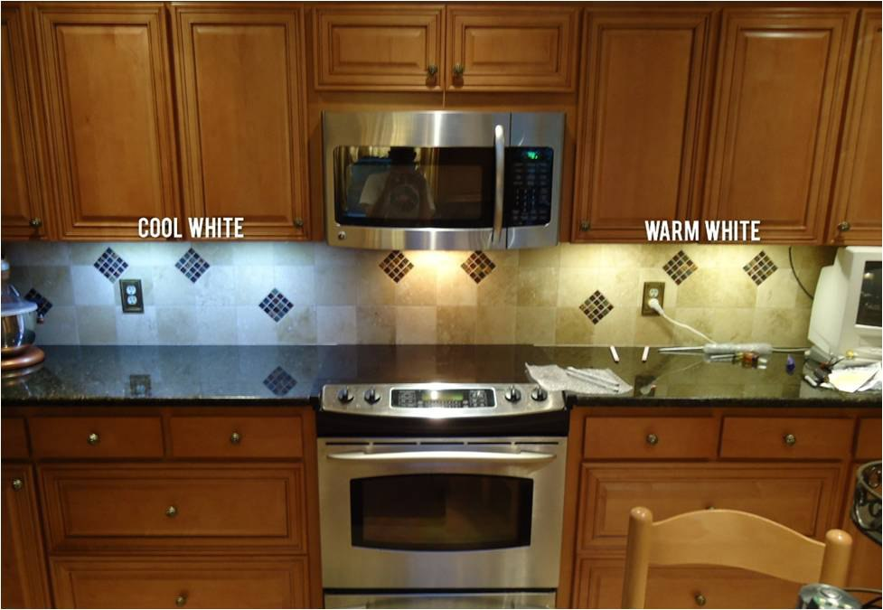 color temperature in led under cabinet