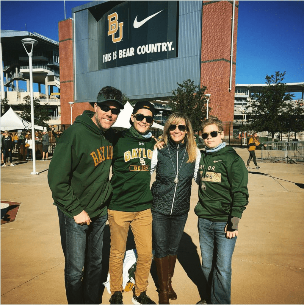 The gang at McLane Stadium in Waco