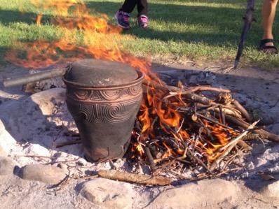 縄文土器で調理 original