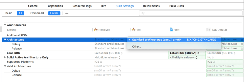 Xcode Architectures