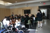 School Reach at the media lounge during the lunch hour