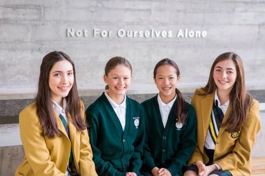 Junior & Senior Head Girls, and Vice-Head Girls for 2016-17