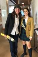 Saskia with Alumnae Special Achiever, Dianne Whelan '83.