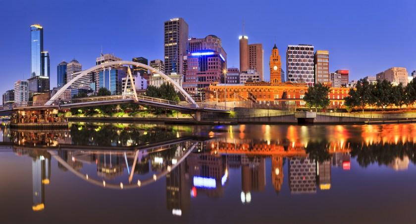 Melbourne Night River