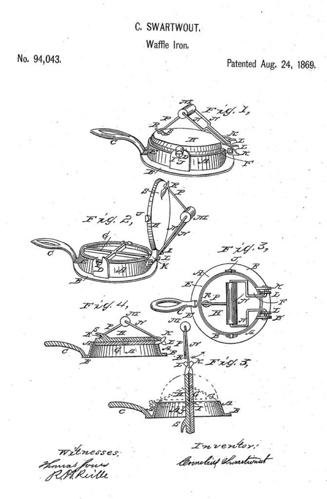 a graphic showing how the waffle iron started