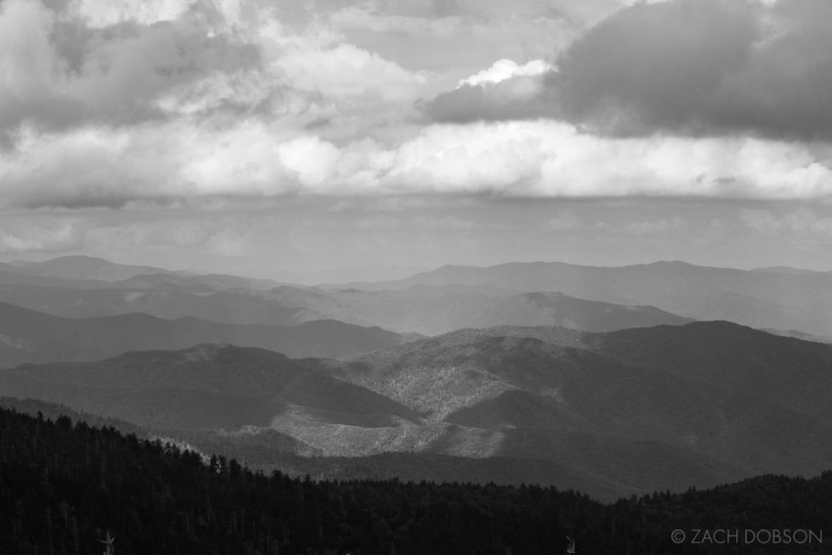 Great Smoky Mountains National Park black and white