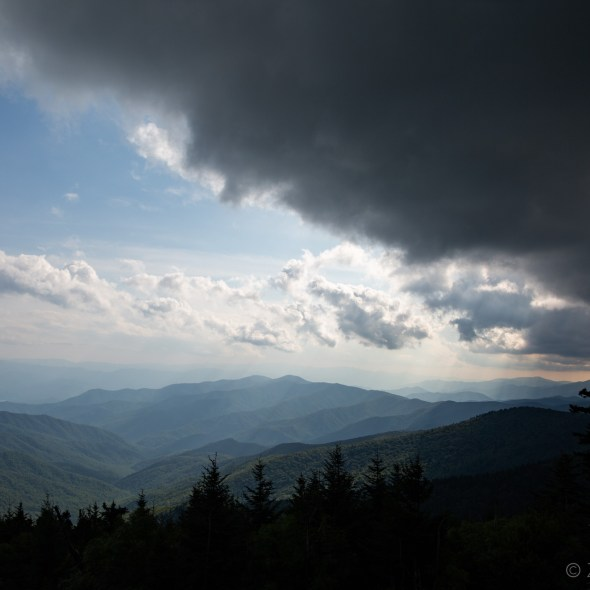 Great Smoky Mountains National Park -clouds and sky