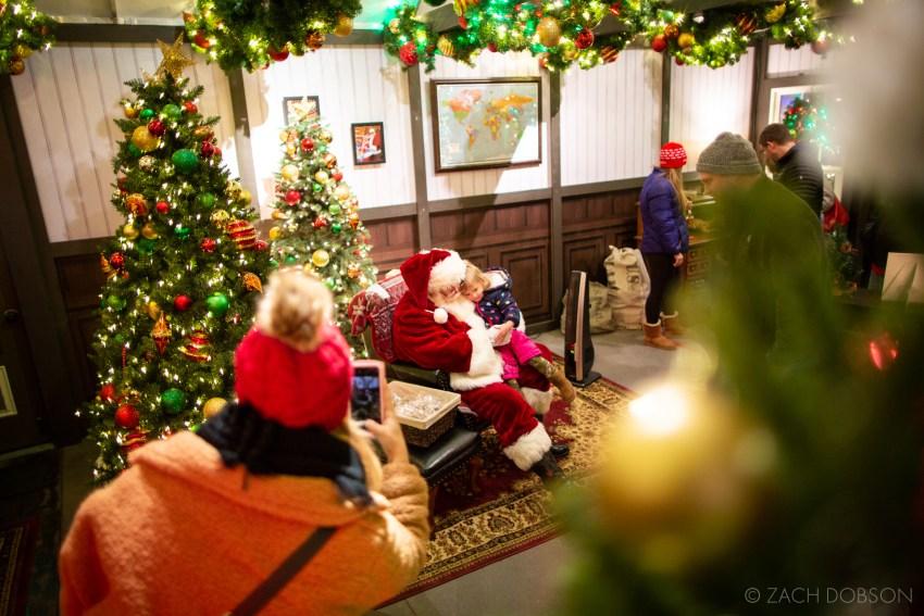 Santa's Study at Christmas at the Zoo in Indianapolis, Indiana.