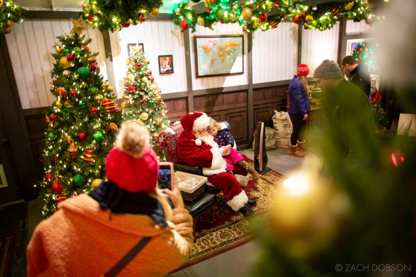 Santa's Study at Christmas at the Zoo in Indianapolis, Indiana.