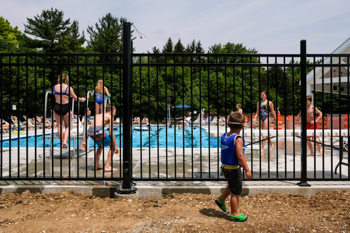 carmel indiana pool open during construction