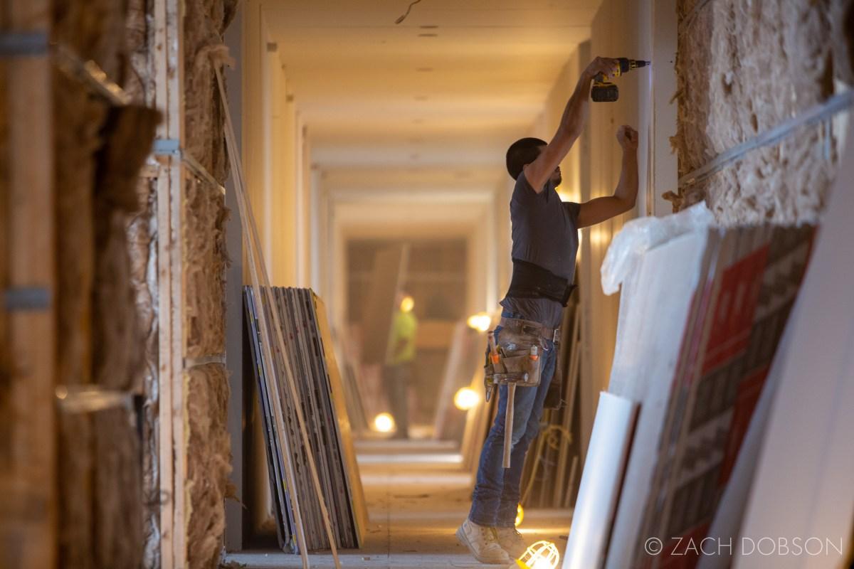 construction, development, multifamily, indianapolis, indiana, drywall