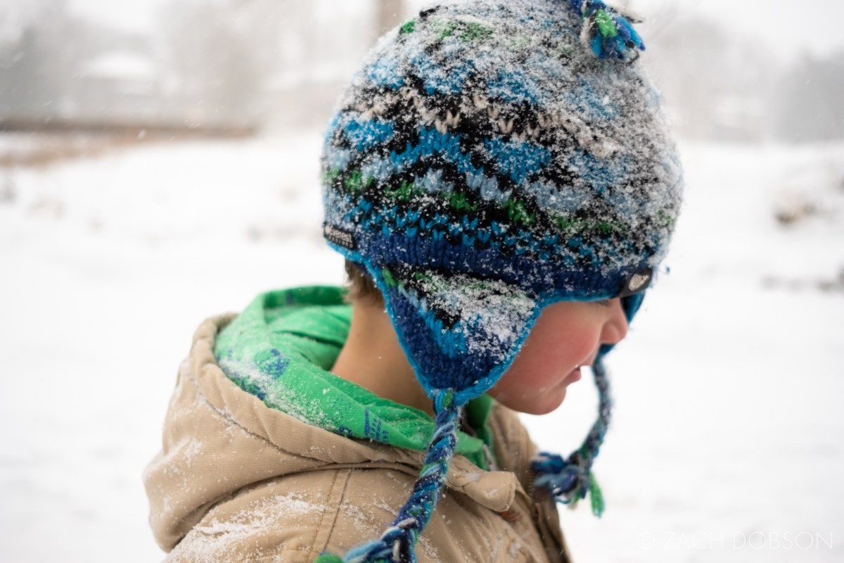 frozen creek winter midwest indiana kids family