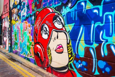 City urban street art, Shoreditch, East London.