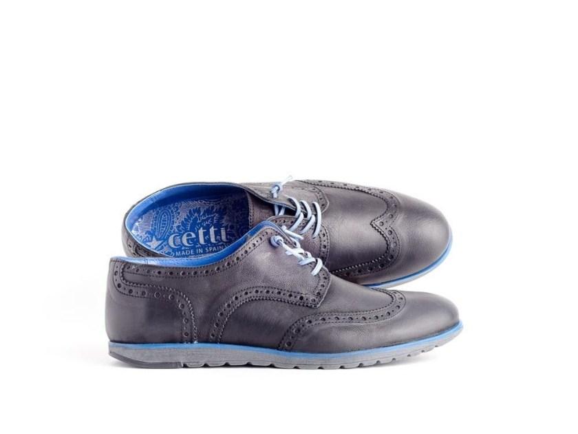 Zapatos de hombre Cetti en piel negra.