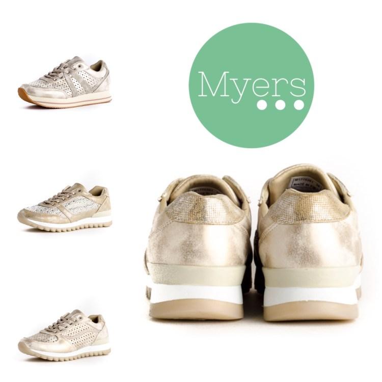 Zapatillas Myers de distintos materiales.