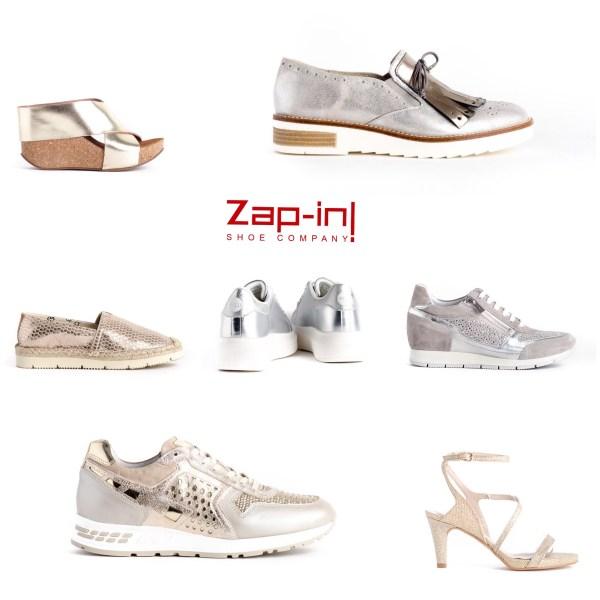 Zapatos metalizados.