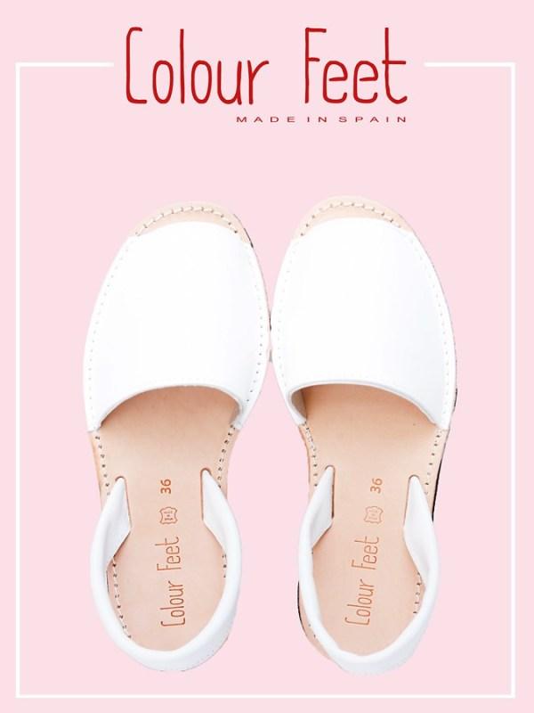 Menorquinas blancas Colour Feet