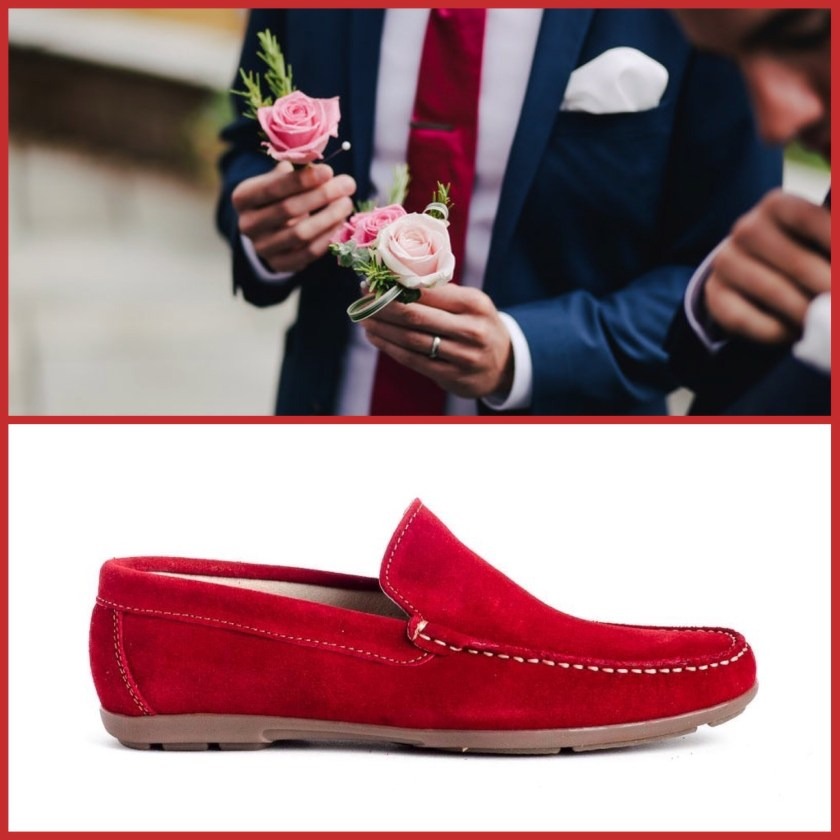 Zapato para hombre Myers 80737 en rojo
