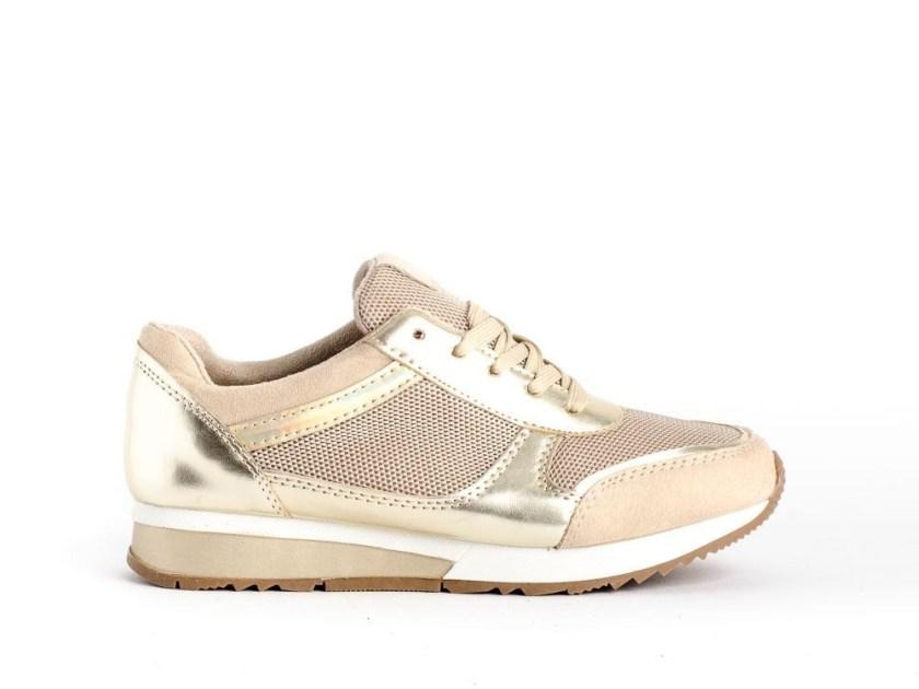 zapatillas cómodas para mujer doradas