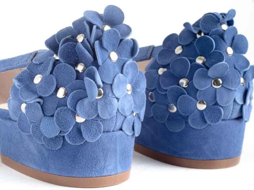 Sandalias azules con flores Stephen Allen K19123-K2