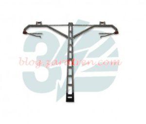Ferro3D - Poste de catenaria CR160, x 2, convencional RENFE, Doble - Fuera , Escala H0, Ref: FT2-1638.