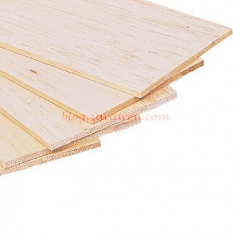 Dismoer - Plancha madera de balsa 100 x 1000 x 1mm, Ref: 35301