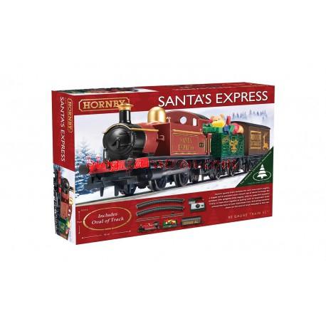 Hornby - Set de inicio Santa`s Express, Set de vías y Transformador, Escala H0, Ref: R1210.