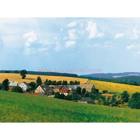 Auhagen - Paisaje para fondo de 3300 x 470 mm. Conjuntable con otras referencias de la marca Auhagen, Ref: 42508.