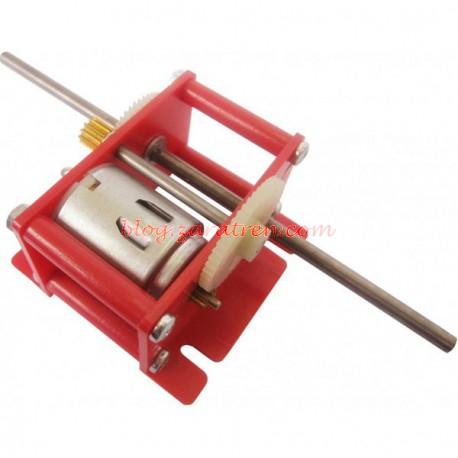 Dismoer - Reductora de motor, válido para manualidades, voltaje de trabajo de 1,5 a 6 voltios, Reducción 26:1, eje de trabajo 40 mm y 4 mm diámetro. Ref: 16426.