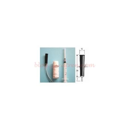 Seuthe - Generador de humo para decoración con boca ancha, con cables, Ref: 4. Quemador Nº1. El equipo se compone de fumígeno, 10 ml de liquido y jeringa dosificadora de liquido.
