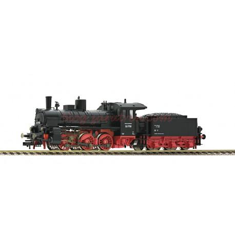 Fleischmann - Locomotora de vapor Clase 53.3 (pr. G 4.3 ), DB, ( Color Negro ), Época III, Anal/Dig., Con conector NEM 651, luces blancas según sentido de marcha, Ref: 412401.