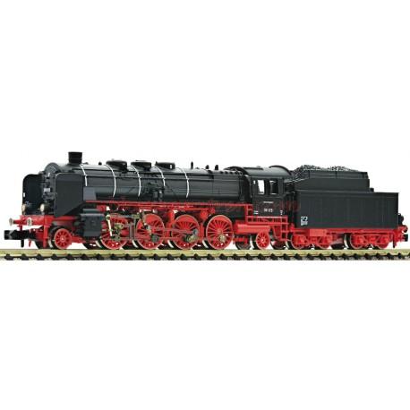 Fleischmann - Locomotora de Vapor BR39.0-2, DB, época III, Digital, funcionamiento extremadamente fino, Escala N, Ref: 713981