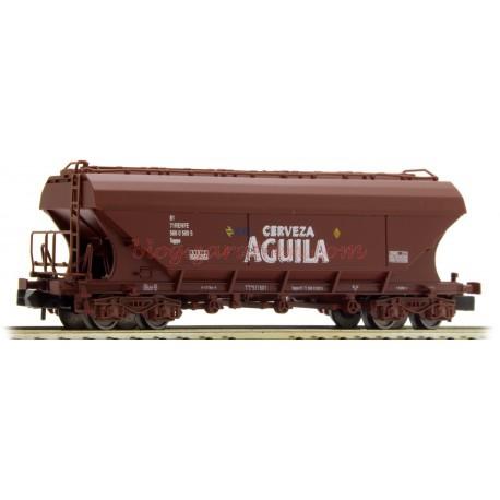 """Arnold - Vagón Tolva, de bogies, """" Cerveza el Aguila """", Color Rojo óxido, época IV, Escala N, Ref: HN6410"""