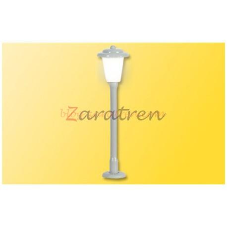 Viessmann - Farola de calle para montar, fabricado en latón, de 33 mm, Led Blanco, Escala N , Ref:6621.