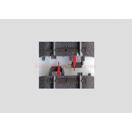 Marklin - Aisladores de carril central, 8 piezas para 4 puntos de aislamiento, Marklin tipo C, Escala H0, Ref: 74030.