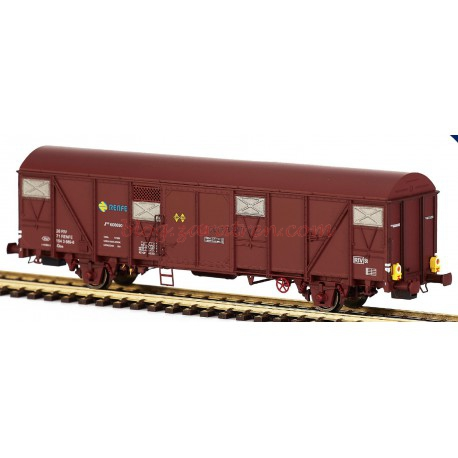 Mabar - Vagón Gbrs RENFE, Jfvce600032, color Rojo óxido, con luces de cola funcionales, Analógico, Escala H0. Ref: 81817