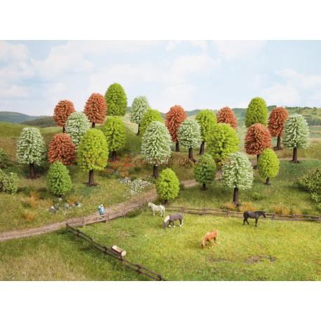 Noch - Surtido de 10 árboles variados primavera de hoja caduca, entre 5 y 9 cm, Escala H0, Ref: 26906