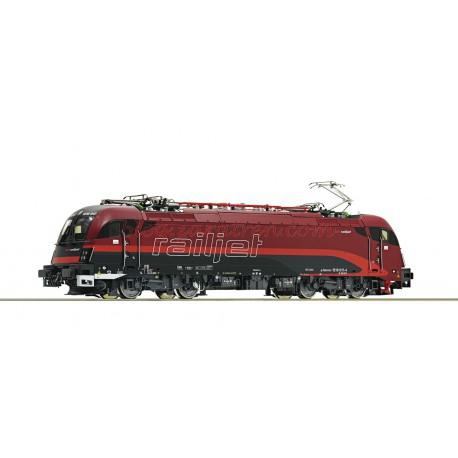 """Roco - Máquina eléctrica """" Railjet """" 1216 017-4, OBB, Digital con Sonido, Escala H0 , Ref:73248"""