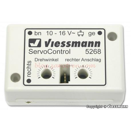 Viessmann - Módulo de control de un servomotor. Este módulo permite controlar servos comunes manualmente o automáticamente, Ref: 5268.