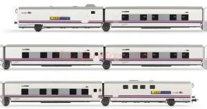 "Electrotren - Tren Hotel Talgo "" Elipsos "", Renfe-SNCF, Set de 6 Coches, Escala H0, Ref: E3272."