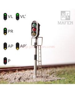 Mafen - Semáforo de 3 aspectos, Escala N, Ref: 4131.01.