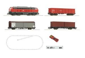 Roco - Set de iniciación Loc. Diesel clase 218, DB AG, Con tres vagones, Digital, Z21 y mando, Ref: 51312.