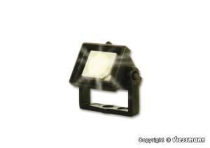 Viessmann - Proyector rectangular, color negro, Luz blanco calido, Escala H0. Ref: 6333.