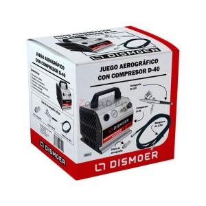 Dismoer - Juego Aerográfico Dismoer con Compresor Compacto con regulador D-40. Ref: 26104.