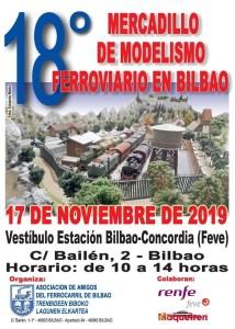 Mercadillos – XVIII edición del Mercadillo de Modelismo Ferroviario organizado por Asociación de Amigos del Ferrocarril de Bilbao, tendrá lugar en la Estación de Renfe – Feve Bilbao Concordia, el próximo 17 de Noviembre.