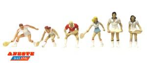 Aneste - Jugadores de Tenis, 6 Figuras, Escala H0, Ref: 4112.