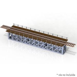 Parvus - Puente metalico viga Linville 28 metros, Epoca II, Escala N, Ref: N0602