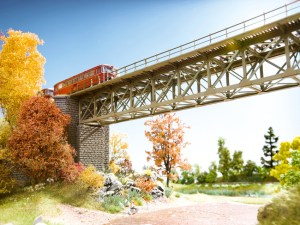 Noch - Puente de Acero, Tramo recto de 102 mm, Escala N, Ref: 62810.